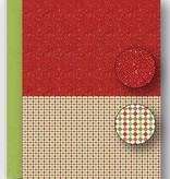 Nellie's Choice NEVA065 Achtergrond vel A4 Christmas red dots