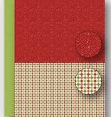 Nellie's Choice NEVA065 Achtergrond vel A4 Christmas red dots