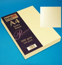 Craft UK Limited 100 x A4 carte de lin ivoire