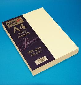Craft UK Limited W120. A4 - ELFENBEIN GLATTE KARTE. 100 PACK