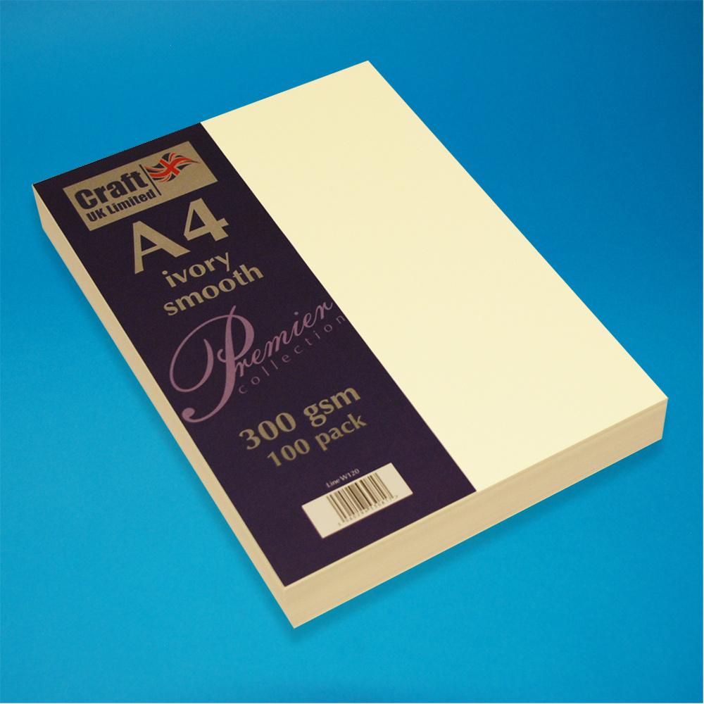 Craft UK Limited W120. A4 - CARTE LISSE IVOIRE. 100 PACK