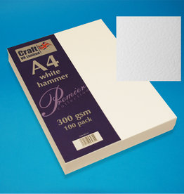 Craft UK Limited 100 x A4 White Hammered Card