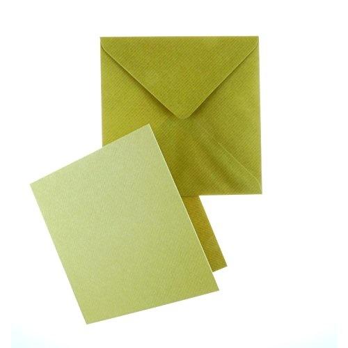 Craft UK Limited 30x 6 X 6 KRAFT CARD & ENVELOPES