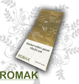 Romak Romak stickervellen goud 10x23 cm 5 stuks