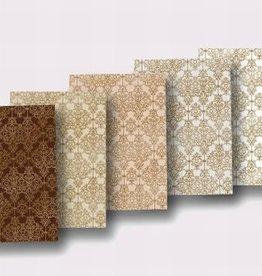 """Creatief Art Cardboard assortment """"Barock"""" 5 sheets 300gr"""
