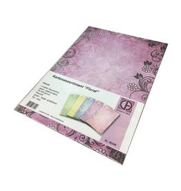 """Creatief Art Cardboard assortment """"Floral"""" 5 sheets 300gr"""