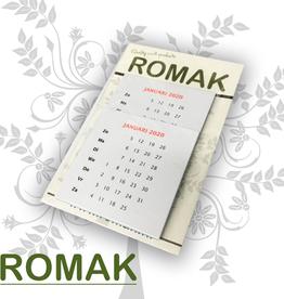 Romak Romak kalenders 6x6 cm