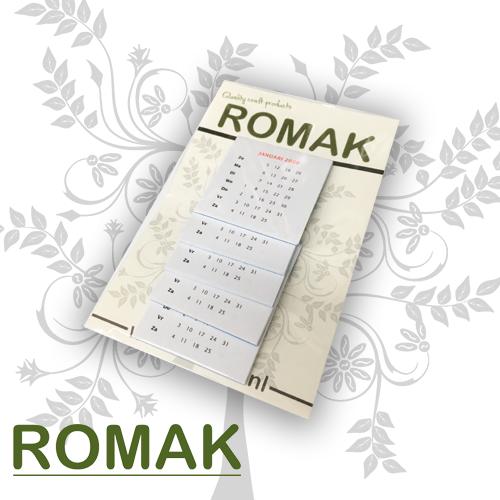 Romak Romak calendar 4x4 cm