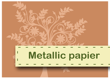 Metallic papier