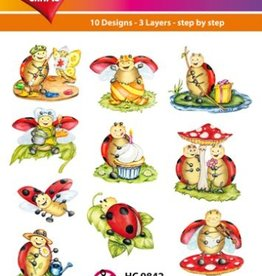 Hearty Crafts Easy 3D - Ladybug, Comic