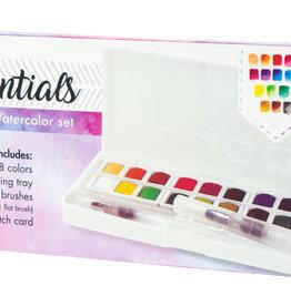 Studiolight Aquarelset, 18 Colors and 2 Water Brushes Essentials nr.01