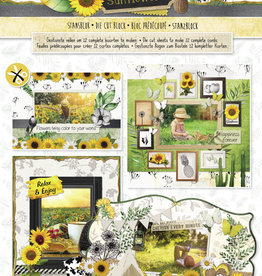 Studiolight Stansblok A4, Content 12 Sheets Die Cut, Beautiful Sunflowers nr.79
