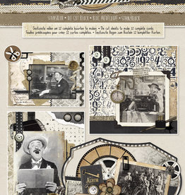 Studiolight Stansblok A4, Content 12 Sheets Die Cut, Classic Gentlemen nr.80
