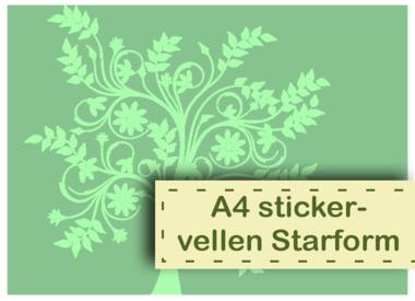 A4 Aufkleberbogen Starform