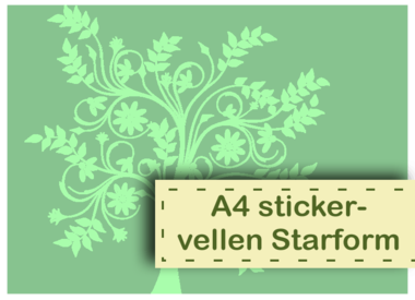 A4 sticker sheets Starform