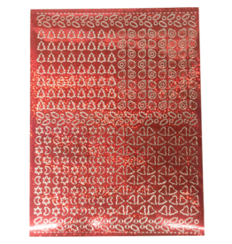 Feuille d'autocollant A5 Feuille de couverture rouge holographique de Noël
