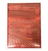 A5 Stickervel Patronen Holografisch rood
