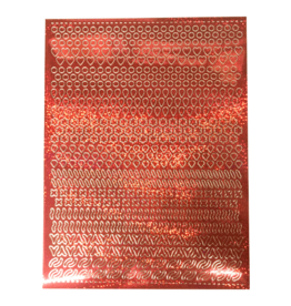 Feuille A5 autocollante Patterns Holographic red