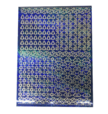 A5 Stickervel Kerst Holografisch blauw hulsblad