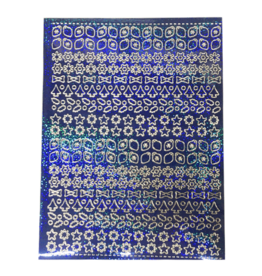 A5 Sticker sheet Christmas Holographic blue