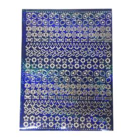 A5 Stickervel Kerst Holografisch blauw