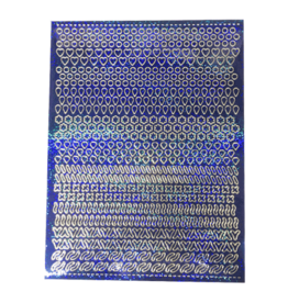 A5 Sticker sheet Patterns Holographic blue