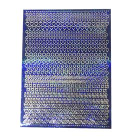 Feuille autocollante A5 Motifs bleu holographique