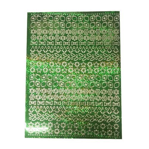 A5 Stickervel Kerst Holografisch groen