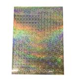 A5 Stickervel Kerst Holografisch goud hulsblad