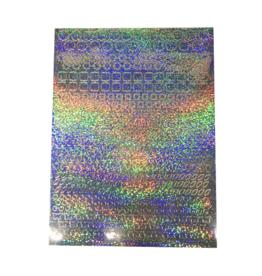 Feuille autocollante A5 Modèles holographiques argent - Copy