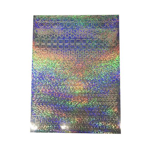 A5 Stickervel Patronen Holografisch zilver