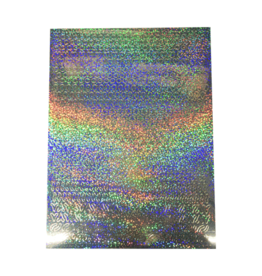 A5 Sticker sheet Patterns Holographic silver