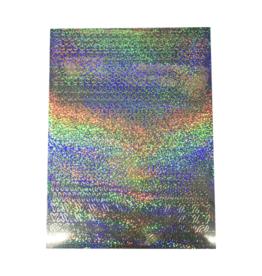 Feuille autocollante A5 Modèles holographiques argent