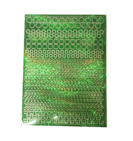 A5 Sticker sheet Patterns Holographic green