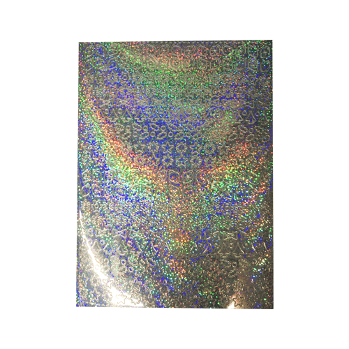 A5 Stickervel Kerst Holografisch zilver
