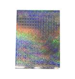 A5 Stickervel Kerst Holografisch zilver hulsblad