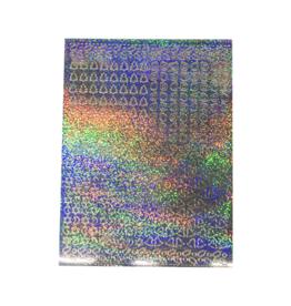 Feuille autocollante A5 Feuille de couverture holographique de Noël argentée