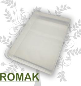 Plastic storage bin A4 format