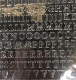 Alfabet en getallen sticker ZWART