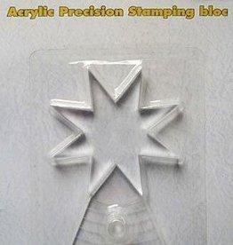 Nellie's Choice Bloc acrylique APBS001 pour tampons de précision