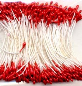 Hobby Crafting & Fun Stamen, pearlized red, round, 1mm, 144pcs/header bag