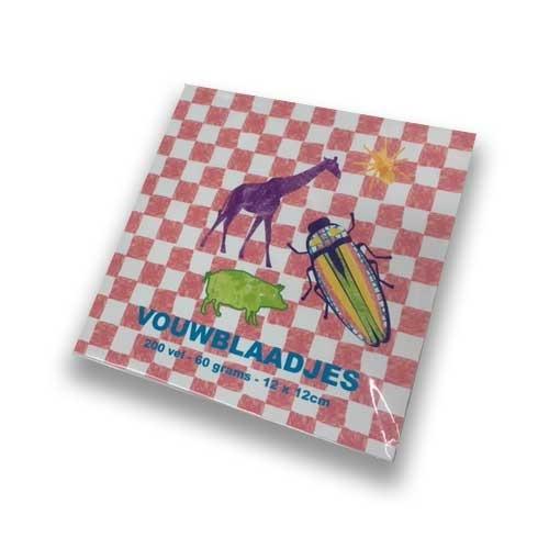 Feuilles pliantes carrées 12x12 cm