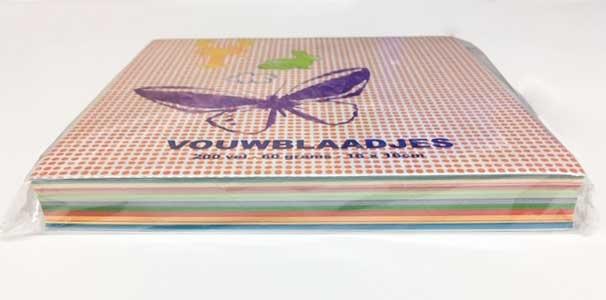 Vouwblaadjes vierkant 16x16 cm