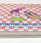 Vouwblaadjes vierkant 12x12 cm