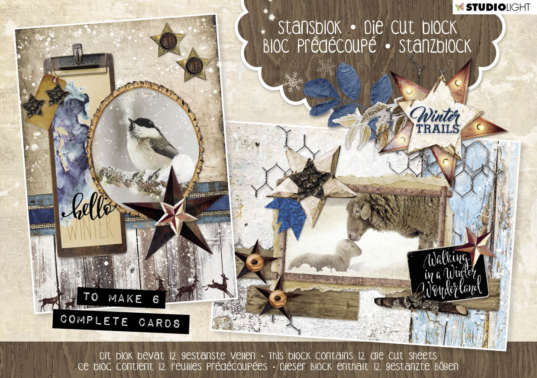Studiolight Stansblok A5 Content 12 Sheets Die Cut, Winter Trails nr.24
