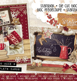 Studiolight Stansblok A5 Content 12 Sheets Die Cut, Scandinavian Winter nr.26