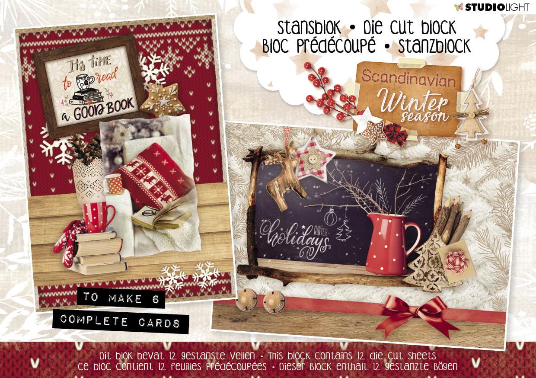 Studiolight Stansblok A5 Content 12 Sheets Die Cut, Scandinavian Winter nr.26
