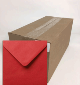Envelopes square red 14x14 cm