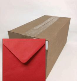 Enveloppen vierkant rood 14x14 cm