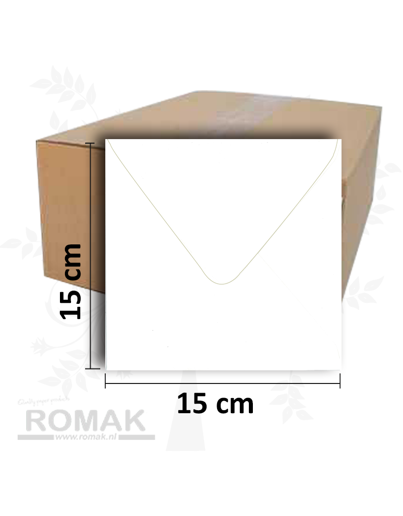 Enveloppes 150 x 150 mm blanches 1000 pièces